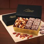 English Butter Toffee & Deluxe Mixed Nuts in Black & Gold Gift Box