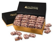 English Butter Toffee in Black and Gold Gift Box
