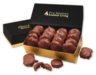 Pecan Turtles in Black and Gold Gift Box