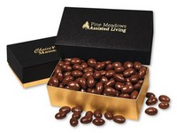 Chocolate Covered Almonds in Black and Gold Gift Box