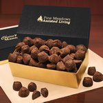 Cocoa Dusted Truffles in Black and Gold Gift Box