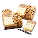 Beech Post-it? Note Holder packed in gift box with Jumbo Cashews