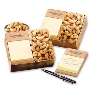 Post-it Note Holder with Extra Fancy Jumbo Cashews