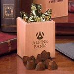Hardwood Pen and Pencil Cup with Cocoa Dusted Truffles