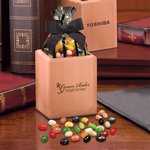 Hardwood Pencil Cup Gift Box with Jelly Belly