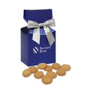 Gourmet Bite-Sized Snickerdoodle Crisp Cookies in Blue Premium De