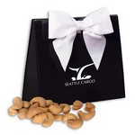 Jumbo Cashews in Black and White Triangular Gift Box