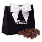 Chocolate Almonds in Black and White Triangular Gift Box