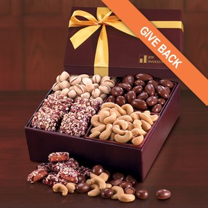 The Classic Gift Box with Chocolates, Nuts and Toffee