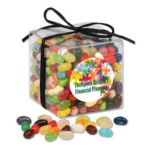 Stylish Acetate Cube with Jelly Belly Jelly Beans