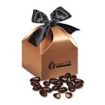 Dark Chocolate Covered Almonds in Copper Gift Box