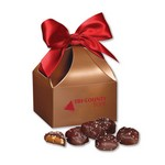 Sea Salt Almond Turtles in Copper Classic Treats Gift Box