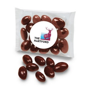 Chocolate Covered Almonds in a Cello Pouch