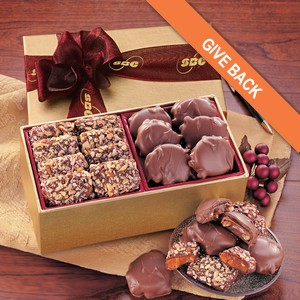 Toffee & Turtles in Gold Gift Box- Satin Burgundy