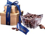 Genuine European Crystal Bowl with Chocolate Covered Almonds
