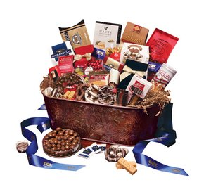 Copper Beverage Tub Gourmet Gift Basket