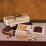 Sweet and Crunchy Assortment in Wooden Crate