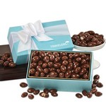Chocolate Covered Almonds in Robin's Egg Blue Gift Box
