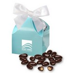 Dark Chocolate Almonds in Robin's Egg Blue Gift Box