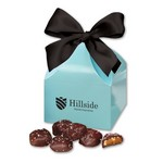 Sea Salt Almond Turtles in Robin's Egg Blue Classic Treats Gift Box