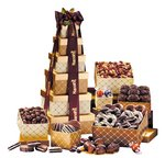 Custom Cookies, Pretzels and Chocolate Golden Delights Gift Tower