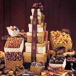 Golden Delights Tower - Gift Basket Tower