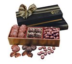 Sea Salt Caramels, Pecan Turtles and Chocolate Almonds Gift