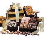 Chocolates, Nuts and Pretzels Gift Tower of Sweets
