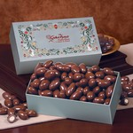 Chocolate Covered Almonds in Holiday Pattern Gift Box