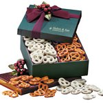Sweet & Savory Pretzels in Green Gift Box