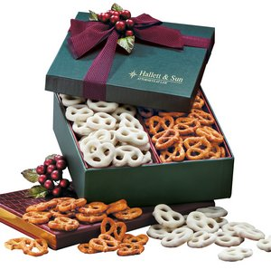 Sweet & Savory Chocolate Covered Pretzels and Seasoned Pretzels