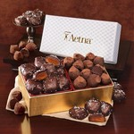 Pillow Top Gift Boxes Chocolate Sea Salt Caramels, Truffles