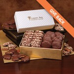 English Butter Toffee and Pecan Turtles in Pillow Top Gift Box