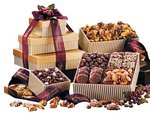 Chocolates, Caramel and Nuts  Sampler Gift Tower