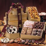 Chocolates, Caramel and Pretzels Gift Tower of Sweets