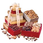 Red & Gold Sweet Sampler Gift Tower