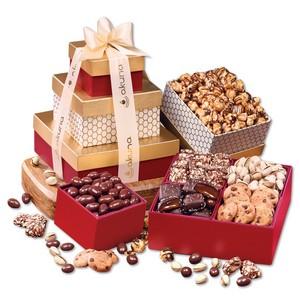 Red & Gold Sweet Sampler Gift Tower