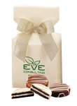 Chocolate Covered Oreos in Ivory Gift Box with Your Logo