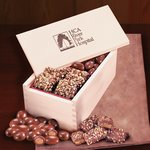 English Toffee & Chocolate Almonds in Wooden Gift Box