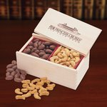 Chocolate Almonds & Cashews in Wooden Gift Box