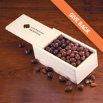 Milk and Dark Chocolate Covered Almonds in Wooden Collector's Box