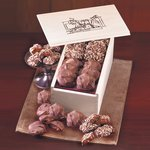 English Butter Toffee & Pecan Turtles in Wooden Gift Box