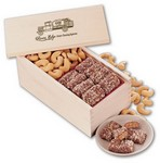 English Butter Toffee & Jumbo Cashews in Wooden Gift Box