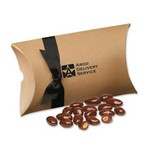 Chocolate Covered Almonds in Kraft Pillow Pack Box