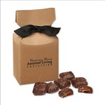 Chocolate Sea Salt Caramels in Kraft Premium Delights Gift Box