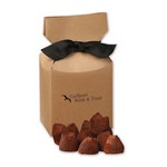 Cocoa Dusted Truffles in Kraft Premium Delights Gift Box