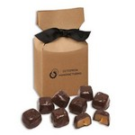 Barrel-Aged Bourbon Caramels in Kraft Gift Box