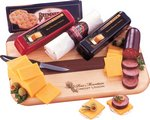 Wisconsin Variety Cheese Package with Logo Cutting Board