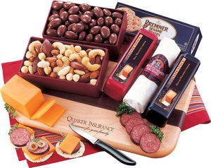 Party Starter Cheese Gift Set and Logo Cutting Board 