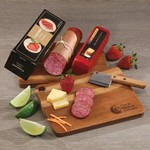 Gourmet Shelf-Stable Assortment with Acacia Charcuterie Serving Board